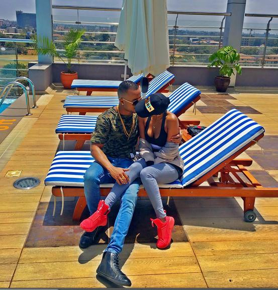 Huddah and her new boy toy - 6 Times Huddah Monroe And Vera Sidika Copied Each Other