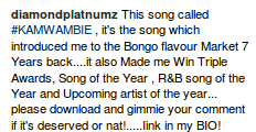 diamond platnumz post