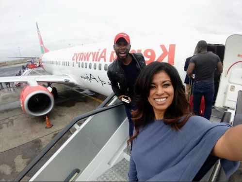 Julie Gichuru takes an amazing shot with the OPPO F3