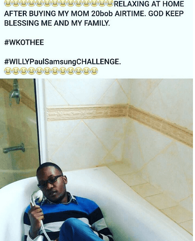 willy paul challenge 5 - KOT's Hilarious Reactions To Willy Paul's Brag About Buying His Mother A Phone