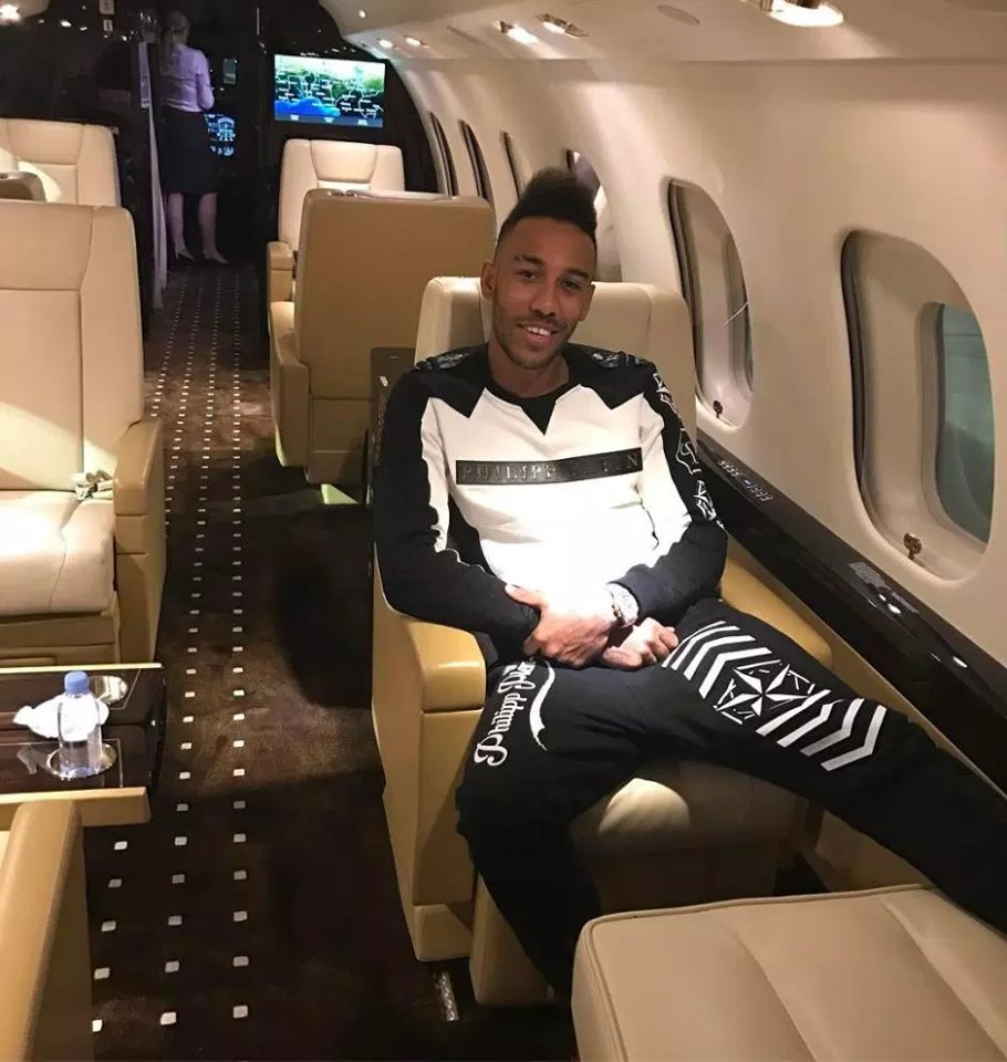 Aubameyang - The good life: Meet African footballers who own private jets