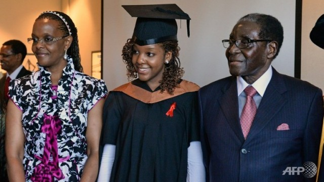 Bona Mugabe graduates e1384632572901 - What a man! Robert Mugabe last happy moments with the family