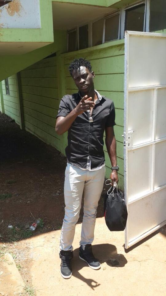 jesse 4 - Meet Kenyan Footballers Who Have Jaw-Dropping Hairstyles (PHOTOS)