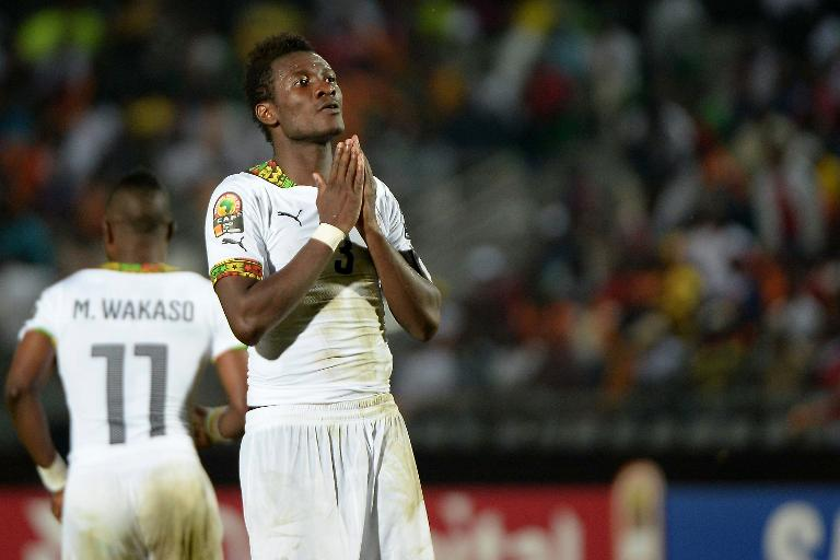 wpid ghana forward asamoah gyan reacts after missing a chance during the africa cup of nations group c match against south africa in mongomo on j - Fans react to Ghana's Asamoah Gyan retirement announcement