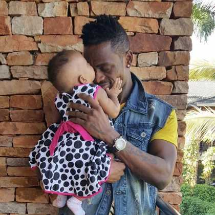 Diamond Tifah 1 420x420 - Rare Moments Of East Africa's Best Celebrity Dads With Their Babies