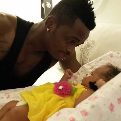 Diamond Tifah 112131 420x420 - Rare Moments Of East Africa's Best Celebrity Dads With Their Babies