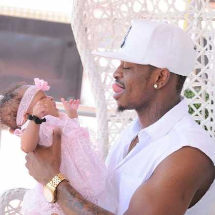 Diamond Tifah 1qa 420x420 - Rare Moments Of East Africa's Best Celebrity Dads With Their Babies