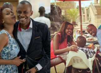 Tina Kaggia with JB in the past