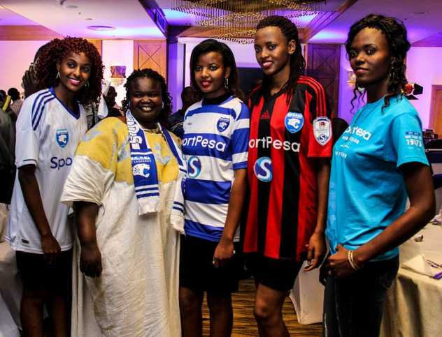 File photo of when SportPesa was unveiled as the official shirt sponsor for Kenya's legendary football club AFC Leopards. Ingwe is Kenya's second most successful club. Photo / COURTESY