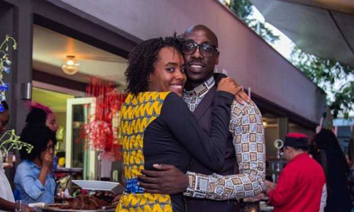 chiki bien2 696x418 - Sauti Sol's Bien hires whole cinema to propose to bae, Chiki