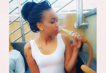 Huddah smoking