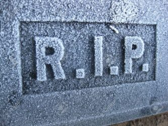 4069665 frozen grave ornament RIP Stock Photo 333x250 - Sing with the angels! Veteran musician falls and dies