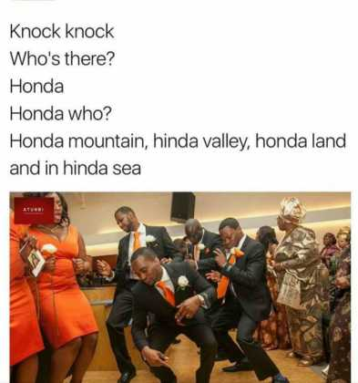 15894489 1800945380157237 4674912347647760963 n 393x420 - These Knock Knock Jokes About Kenyan Songs Will Kill You!