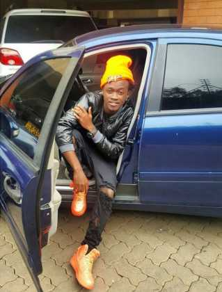 Bahati car1 319x420 - 23 Entertainers who are not afraid to show off their rides