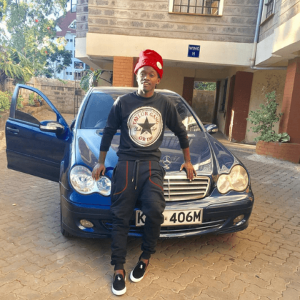 bahati11 420x420 - 23 Entertainers who are not afraid to show off their rides