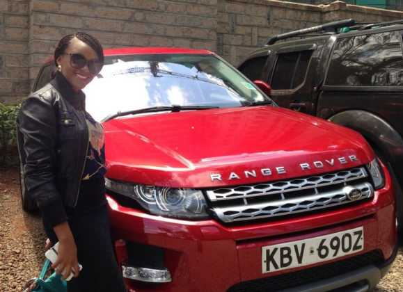 edith Kimani car 579x420 - 23 Entertainers who are not afraid to show off their rides