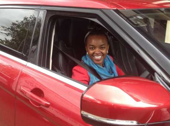 edith Kimani car1 563x420 - 23 Entertainers who are not afraid to show off their rides