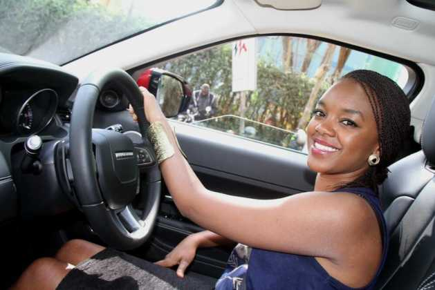 edith Kimani car2 629x420 - 23 Entertainers who are not afraid to show off their rides