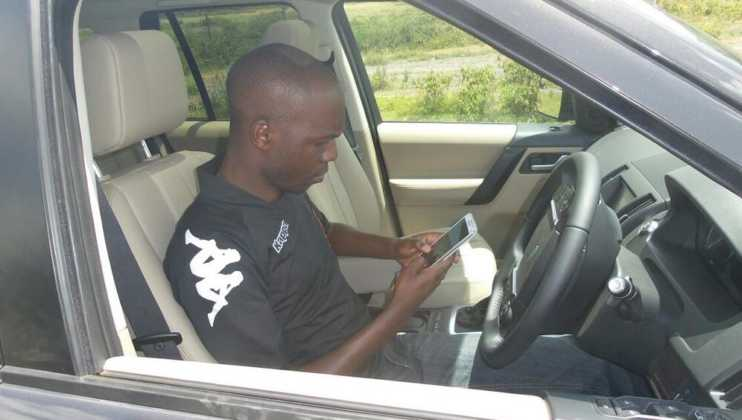 larry madowo car 742x420 - 23 Entertainers who are not afraid to show off their rides