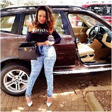 vera Sidika - 23 Entertainers who are not afraid to show off their rides