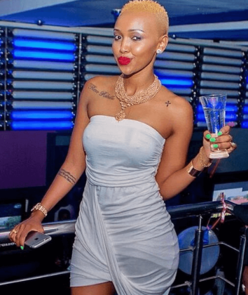 huddah blonde 354x420 - Photos Of Your Favorite Kenyan Socialites Before The Fame And Money