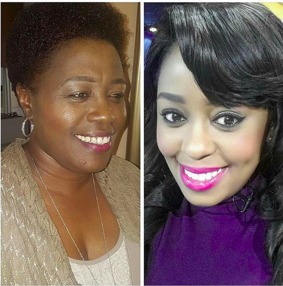 Lillian Muli and her mother
