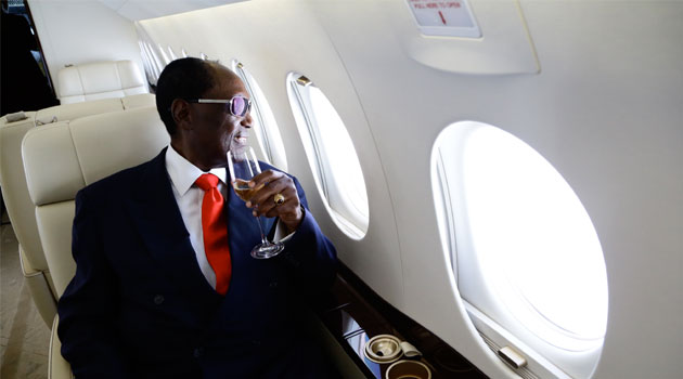 Chris Kirubi in the luxurious jet /MUTHONI NJUKI/ CAPITAL