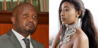 Charity Mwangi and Moses Kuria