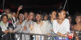 Fans at a Kenyan concert. Photo / COURTESY