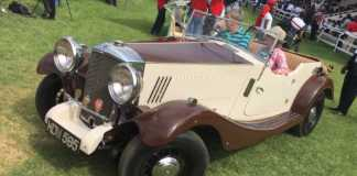 The winner of the CBA Africa Concours D' Elegance 2017 cars category - Diccon Wilcock in this 1934 Railton