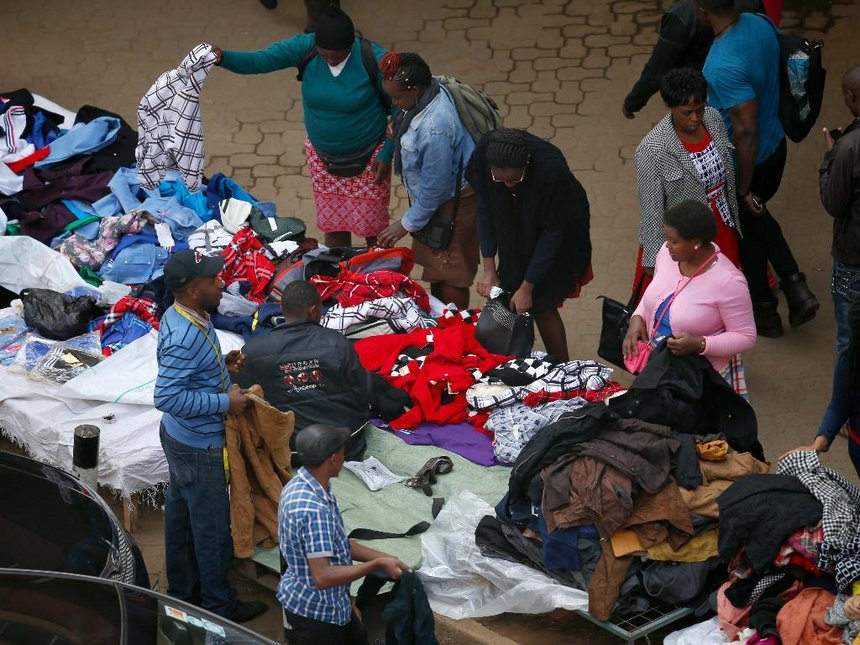 Hawkers sell their wares on Tom Mboya Street in Nairobi CBD on June 28, 2016. Photo / The Star