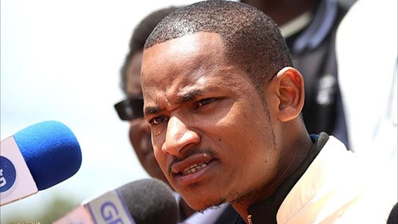 Babu Owino at a press conference