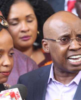 Jimi Wanjigi and his wife Irene Nzisa