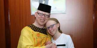 Goldalyn Kakuya with Isaac Mwaura