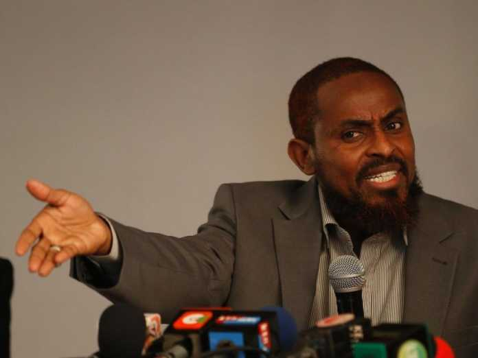 Presidential candidate Abduba Dida with advice on the Boycott. Photo / The Star