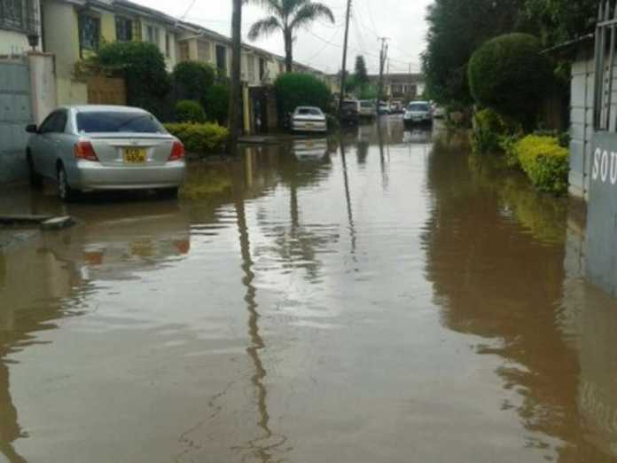 A flood in an estate in South C, Nairobi, on March 31 / COURTESY