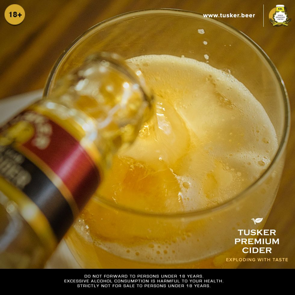 Tusker Premium Cider With Chills