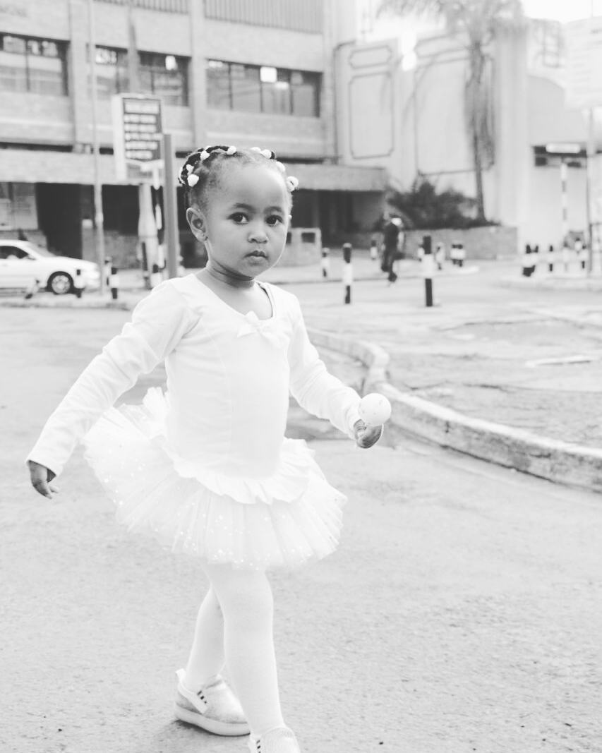 ladasha 1 - Photos of DJ Mo and Size 8's daughter with her game face on
