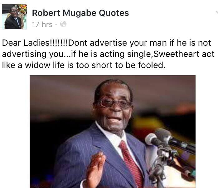 mugabe 3 - Uncle Bob Manenos! Check Out Robert Mugabe's Best Memes And Quotes