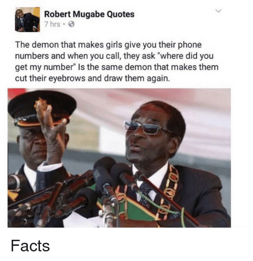 mugabe 5 - Uncle Bob Manenos! Check Out Robert Mugabe's Best Memes And Quotes
