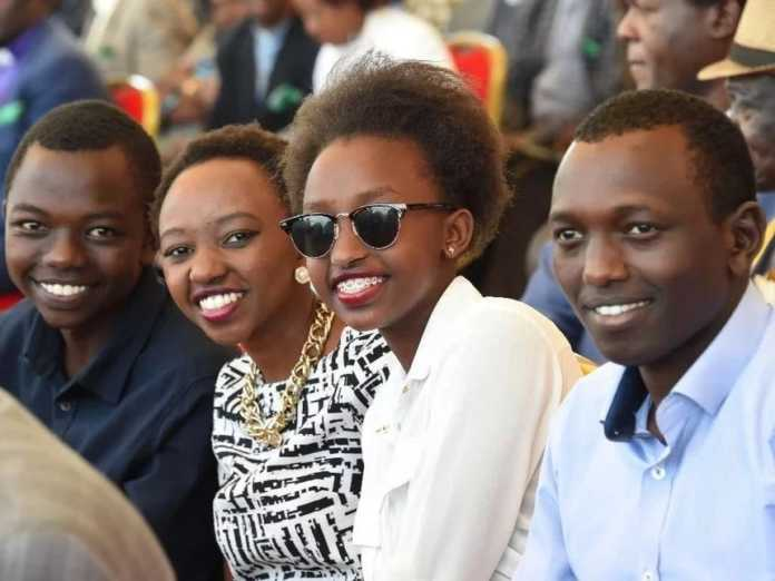 ruto kids 696x522 - Hustler's daughter is in love! DP Ruto's daughter, Charlene, reveals conversation with bae