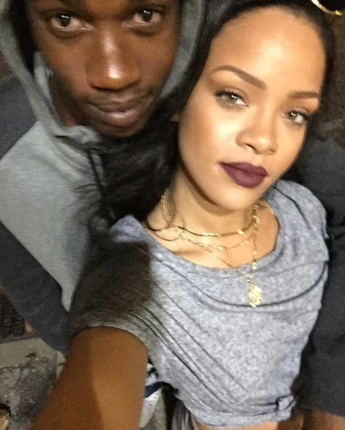 Rihanna with her cousin