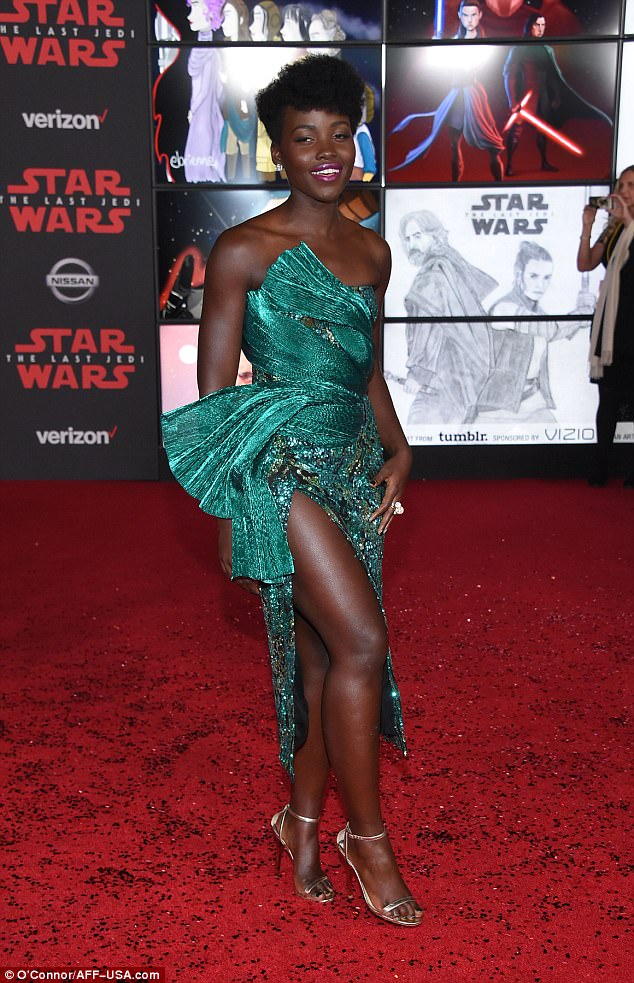 Lupita Nyong'o in green dress