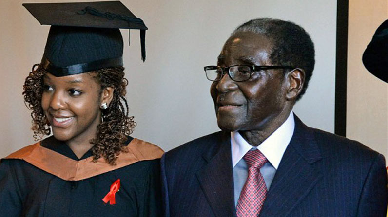 Bona Mugabe and Father - What a man! Robert Mugabe last happy moments with the family