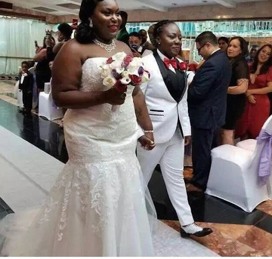 Pictures of 2 Ghanaian lesbians wedding abroad sparks outrage 3 - 'I am adored,' Gay South African couple shares romantic photos
