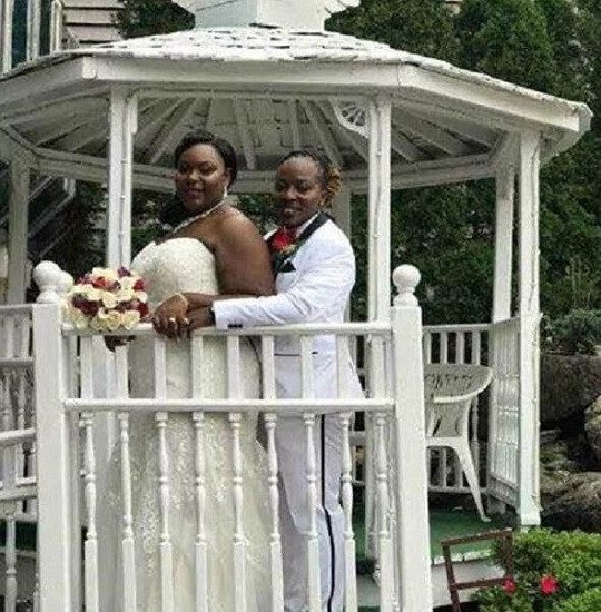 Pictures of 2 Ghanaian lesbians wedding abroad sparks outrage 4 - 'I am adored,' Gay South African couple shares romantic photos