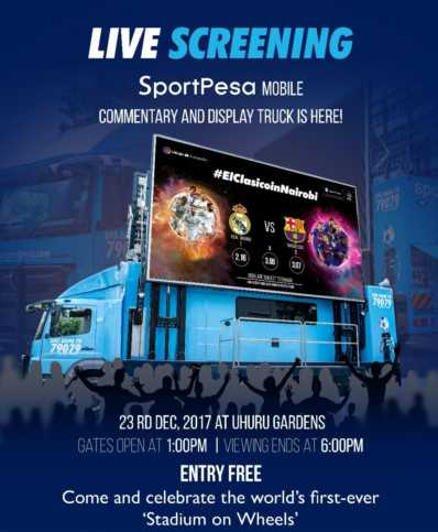 Sportpesa Truck Live screening