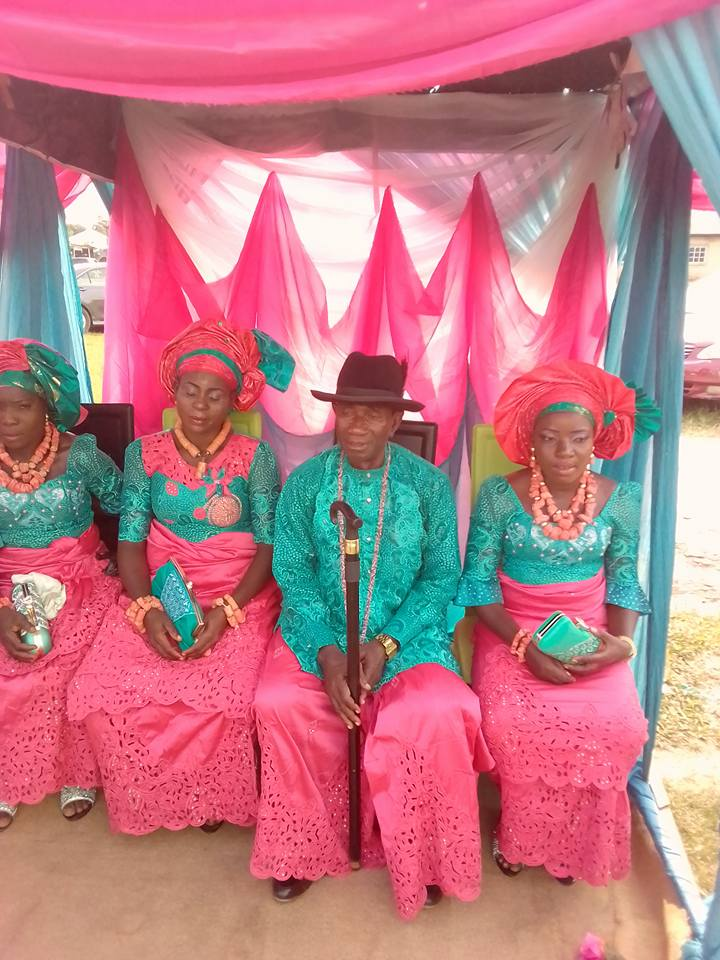Man marries three women at once in a colourful wedding ceremony
