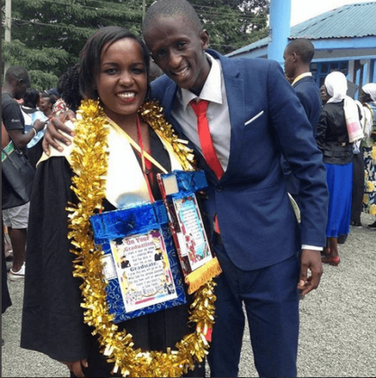 njugush wife 6 417x420 - Who Knew Comedian Njugush Could Look This Dapper In A Suit?