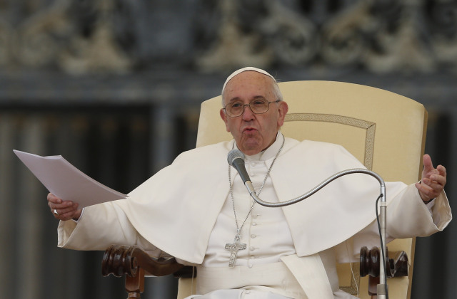 Pope Francis seating